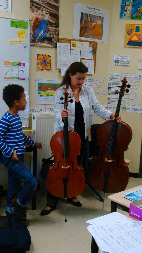 Observez la taille des violoncelles...